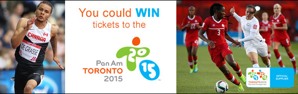 Enter today for your chance to WIN tickets to the Opening ceremonies – Friday July 10th at Pan Am ceremonies